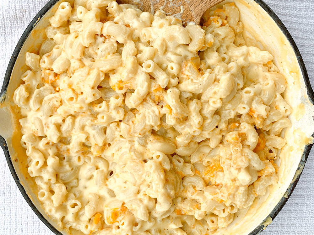 White Cheddar Horseradish Mac & Cheese